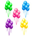 colored balloons set vector image