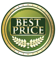 Best Price Green Label vector image vector image