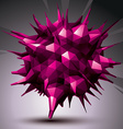 digital 3d abstraction geometric polygonal element vector image vector image