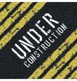 under construction sign vector image vector image