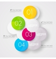 Abstract background with colorful circles vector image