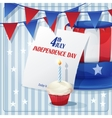 Background to Independence Day on July 4 with vector image
