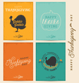 Colorful Typographical Thanksgiving Greeting Card vector image