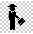 gentleman manager icon vector image