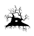 Old tree bare silhouette for your design vector image