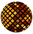 Orange mosaic ball vector image