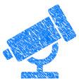 telescope grunge icon vector image