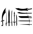 sword set vector image vector image
