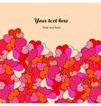 Decorative hearts border vector image