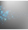 Blue glittering star dust trail EPS 10 vector image vector image