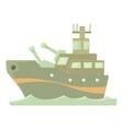 Battleship icon cartoon style vector image