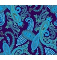 Seamless paisley background Blue colors vector image