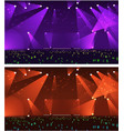 set of empty stage rock concert vector image