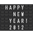 scoreboard happy new year vector image vector image