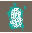 Font graffiti vandal and cans vector image
