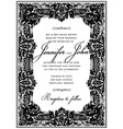 Ornate Victorian Frame vector image vector image