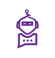 chat robot vector image