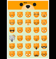 Dog emoji icons vector image