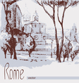 Graphic of Rome Italy Poster vector image