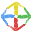 Grunge Arrow Four Color vector image