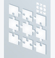 parts flat of paper puzzles business concept vector image