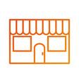 restaurant facade exterior building commercial vector image