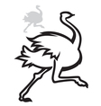 simple image ostrich vector image