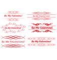 elements for design - be my valentine vector image vector image