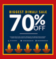 biggest diwali sale of discount and offers with vector image