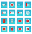 on off switch web buttons icon blue app vector image