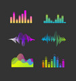 sound waves equalizer set vector image