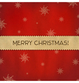 Red Christmas Background With Paper Divider vector image