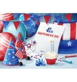 Greeting Card Independence Day July 4 vector image
