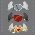 3 different hearts with wings vector image
