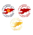 made in Kyrgyzstan stamp vector image