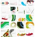 Various set of geometric abstract backgrounds vector image