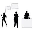 people hoding board vector image vector image