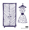 Dress and wardrobe vector image vector image