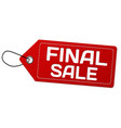 final sale label or price tag vector image