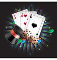 Gambler attributes vector image