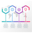 infographics style polygons with rounded corners t vector image