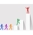 leadership with colorful symbols of people vector image