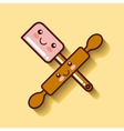 rolling pin icon design vector image