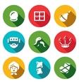 Set of Alternative Medicine Icons Vacuum vector image