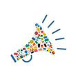 social media network megaphone shape icon concept vector image