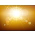 Yellow glow sunshine vector image