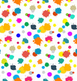 Seamless Colorful Splashes Pattern on White vector image vector image