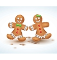 Gingerbread cookies for new vector image