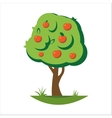 Cartoon apple tree vector image