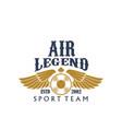aviaton sport air legend propeller icon vector image